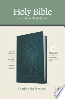 NLT Thinline Reference Bible  Filament Enabled Edition  Red Letter  Leatherlike  Teal Blue  Book