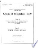 A Report of the Seventeenth Decennial Census of the United States