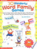 30 Wonderful Word Family Games Book