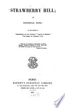 Strawberry Hill  an historical novel