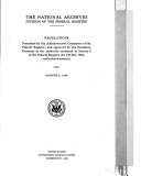 Regulations Prescribed by the Administrative Committee of the Federal Register  and Approved by the President