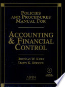 Policies and Procedures Manual for Accounting and Financial Control