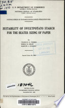 Suitability of Sweetpotato Starch for the Beater Sizing of Paper