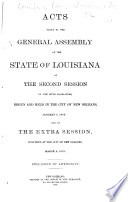 Acts Passed At The Session Of The General Assembly Of The State Of Louisiana