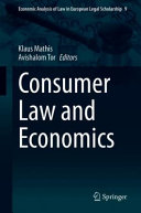 Consumer Law and Economics