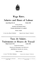 Wage Rates  Salaries  and Hours of Labour