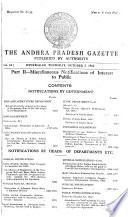 The Andhra Pradesh Gazette