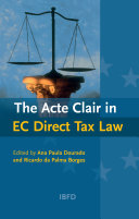 The Acte Clair in EC Direct Tax Law