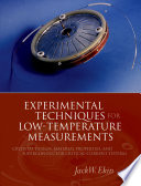 Experimental Techniques for Low Temperature Measurements Book