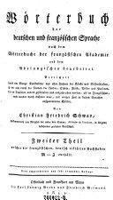 Zweiter Theil welcher die deutschen, französisch erklärten Buchstaben M-Z enthält