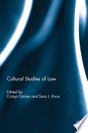 Cultural Studies of Law