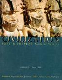 Civilization Past and Present Book