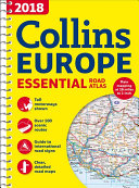 2018 Collins Europe Essential Road Atlas