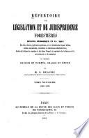 Répertoire de législation et de jurisprudence forestières