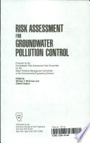 Risk Assessment for Groundwater Pollution Control