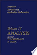 Handbook of Applicable Mathematics, Analysis