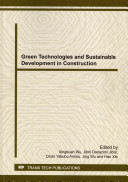 Green Technologies And Sustainable Development In Construction Book PDF
