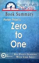 Book Summary of Zero to One