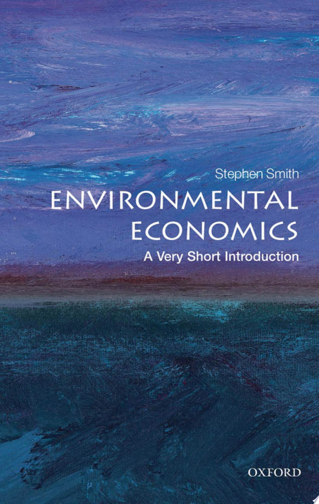 Environmental Economics  A Very Short Introduction