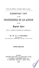 Elementary View of the Proceedings in an Action in the Supreme Court Book