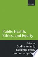 Cover of Public Health, Ethics, and Equity