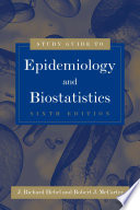 Study Guide To Epidemiology And Biostatistics Book PDF