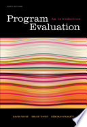 Program Evaluation  An Introduction