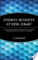 Energy Budgets at Risk  EBaR