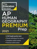 Princeton Review AP Human Geography Premium Prep  2021