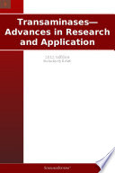 Transaminases   Advances in Research and Application  2012 Edition