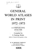 General World Atlases in Print  1972 1973