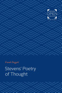 Pdf Stevens' Poetry of Thought Telecharger