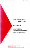 Food Purchasing Practices Related to Behavioral and Socioeconomic Characteristics
