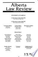 Alberta Law Review