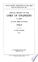 Annual Report of the Chief of Engineers, U.S. Army, on Civil Works Activities