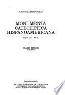 Monumenta catechetica hispanoamericana