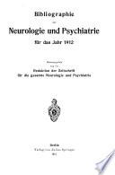 Bibliographie der Neurologie und Psychiatrie