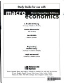 Study Guide for Use with Macroeconomics  First Canadian Edition Book