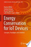 Energy Conservation for IoT Devices Book