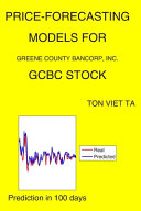 Price Forecasting Models for Greene County Bancorp  Inc  GCBC Stock