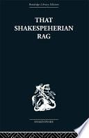 That Shakespeherian Rag