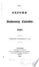 Oxford University Calendar