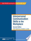 Interpersonal Communication Skills in the Workplace Book PDF