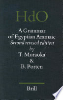A Grammar of Egyptian Aramaic