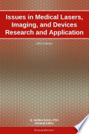 Issues In Medical Lasers Imaging And Devices Research And Application 2011 Edition Book PDF