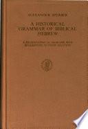 A Historical Grammar Of Biblical Hebrew Book PDF
