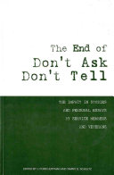 The End of Don't Ask, Don't Tell: The Impact in Studies and Personal Essays by Service Members and Veterans