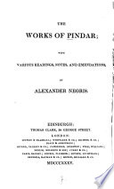 The works of Pindar, Works 1835