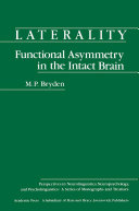 Laterality Functional Asymmetry in the Intact Brain
