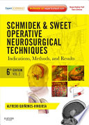 Schmidek and Sweet  Operative Neurosurgical Techniques E Book Book